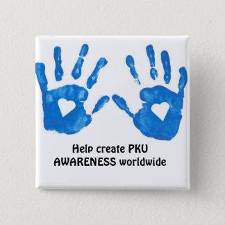 PKUの認識度ボタン 缶バッジ
