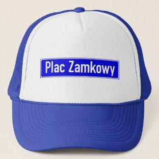 Plac Zamkowy、ワルシャワのポーランドの道路標識 キャップ