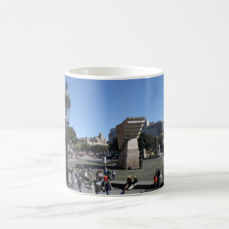 Plaça Catalunya、バルセロナ コーヒーマグカップ