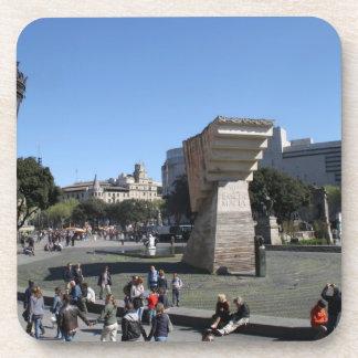 Plaça Catalunya、バルセロナ ドリンクコースター