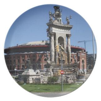 Plaça Espanya、バルセロナ プレート