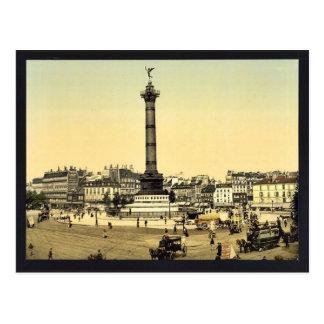 Place de la Bastilleのパリ、フランスのクラシックPhotoc ポストカード