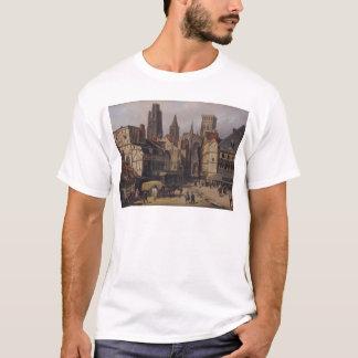 Place de la Haute Vieille旅行、ルーアン1824年 Tシャツ