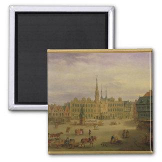 Place de L'Hotel de Ville、カンブレー、c.1780 マグネット