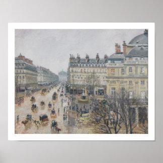 Place du Theatre Francais、パリ: 雨1898年 ポスター
