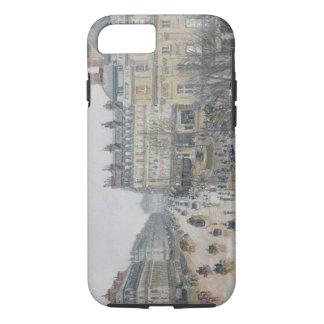 Place du Theatre Francais、パリ: 雨1898年 iPhone 7ケース