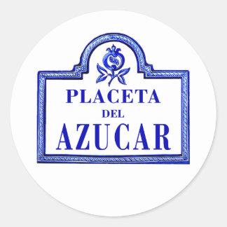 Placeta del Azucarrのグラナダの道路標識 ラウンドシール