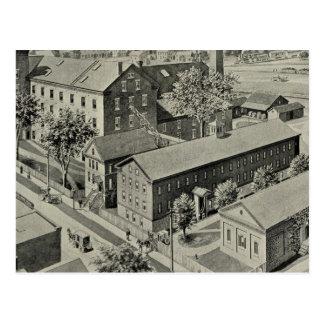 Plainvilleコネチカットのイラストレーション ポストカード