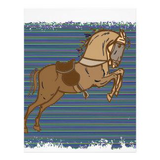 Plalyfulブラウンの馬のスケッチ レターヘッド