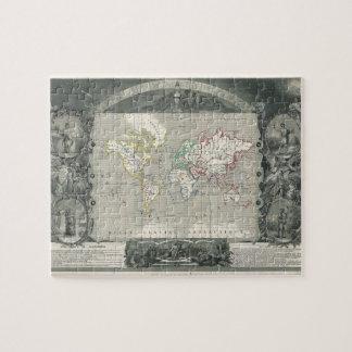 Planisphereの世界の1847年の勝利者のLevasseurの地図 ジグソーパズル