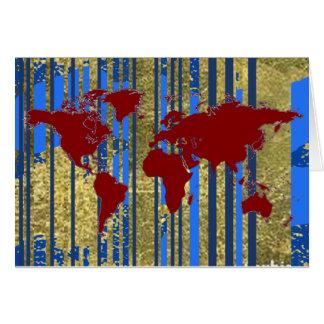 Planisphere世界の地図 グリーティングカード