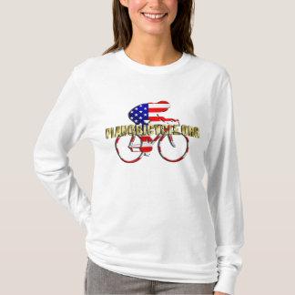 Planoの自転車のアメリカの愛国者のサイクリングのロゴ Tシャツ