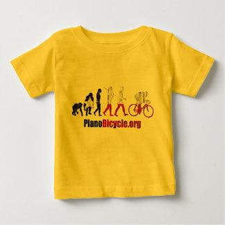 Planoの自転車連合の進化のアートワークのギフト ベビーTシャツ