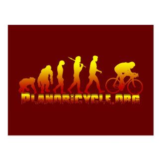 Planoの自転車連合のFirestarterのロゴ ポストカード