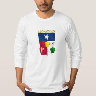 PlanoBicycle.Orgテキサス州の旗のサイクリングのギア Tシャツ