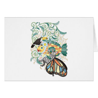 Plant fish and Butterfly cat and Toco toucan カード