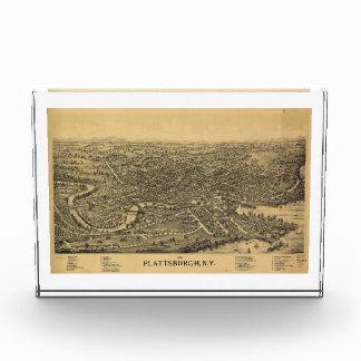 Plattsburghニューヨーク(1899年)の空気の地図 表彰盾
