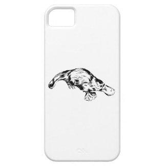 Platypusの現実的な白黒絵 iPhone SE/5/5s ケース