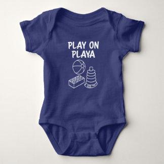 Playaのおもしろいな男の赤ちゃんのワイシャツの演劇 ベビーボディスーツ