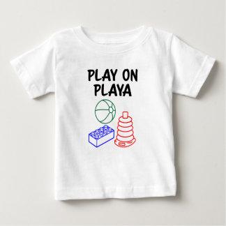 Playaのおもしろいな男の赤ちゃんのワイシャツの演劇 ベビーTシャツ