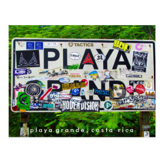 Playaグランデコスタリカの郵便はがき ポストカード