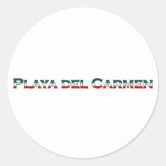 Playa del Carmen (文字のロゴ) ラウンドシール