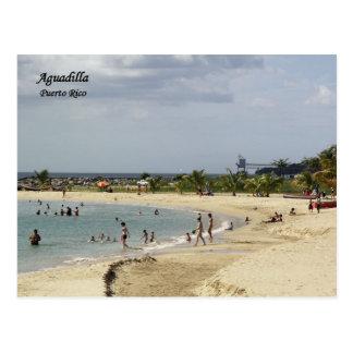 Playa en Aguadillaプエルトリコ ポストカード