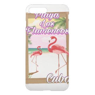Playa Losのフラメンコのキューバ旅行ポスター iPhone 8 Plus/7 Plus ケース