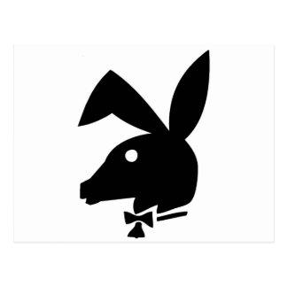 PLAYABOYのライフスタイルの雑誌のろばのロゴ ポストカード