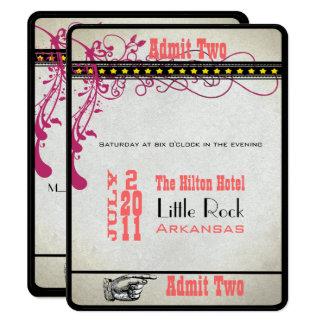 PlaybillのチケットRSVP 10.8 X 14 インビテーションカード