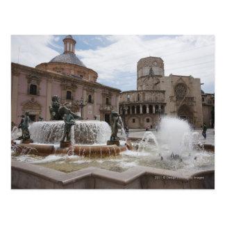 Plaza De La VirginおよびBasilica De Virgen ポストカード