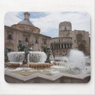 Plaza De La VirginおよびBasilica De Virgen マウスパッド