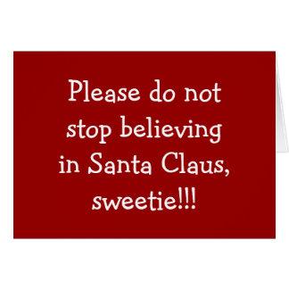 PLEASE-DOサンタのキャンディで信じるない停止 カード