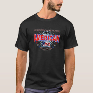 Pledge Allegiance American Patriot US Flag T-shirt Tシャツ
