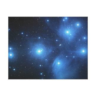 Pleiadesの星団 キャンバスプリント