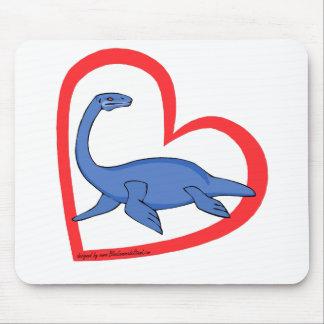 Plesiosaurのハート マウスパッド