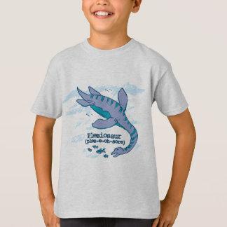 Plesiosaurの子供の恐竜のTシャツを言うためにいかにしなさいか Tシャツ