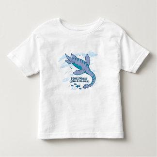 Plesiosaurの青い海の恐竜の幼児のTシャツ トドラーTシャツ