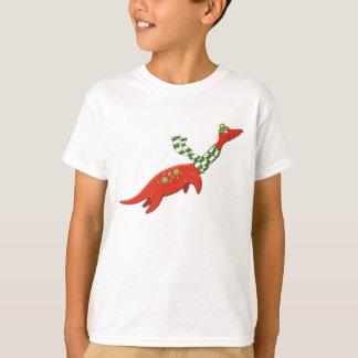 Plesiosaurはクリスマスのワイシャツのために家に帰ります Tシャツ