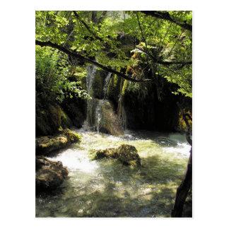 Plitvicka Jezeraの小さい滝 葉書き
