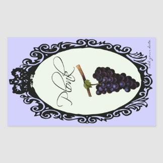 Plonk (手製のワインのラベル) 長方形シール