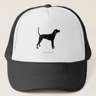 Plott猟犬のシルエット キャップ