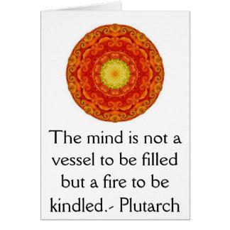 Plutarchの引用文の教育の先生の学ぶこと グリーティングカード