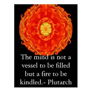 Plutarchの引用文の教育の先生の学ぶこと ポストカード
