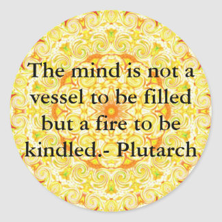 Plutarchの引用文の教育の先生の学ぶこと ラウンドシール