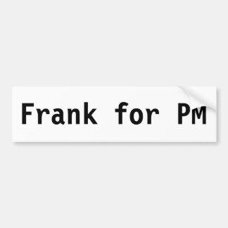 PMのためのフランク バンパーステッカー