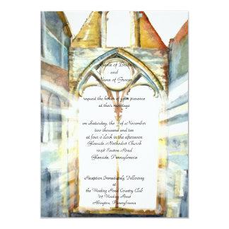 PMACarlsonのカテドラルの結婚式招待状 カード