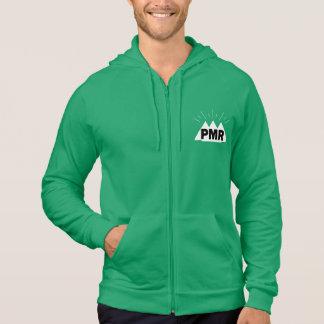 PMRのロゴのジッパーのフード付きスウェットシャツ パーカ