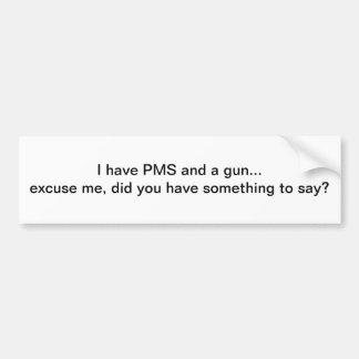 PMSおよび銃-バンパーステッカー バンパーステッカー