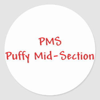 PMSのふくらんでいる中央部のステッカー ラウンドシール
